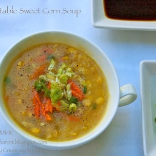 Vegetable Sweet Corn Soup and Nostalgia Revisited