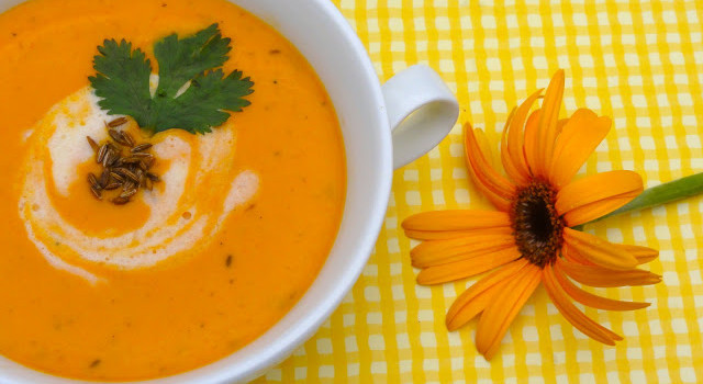 Cream of Carrot and Lentil Soup