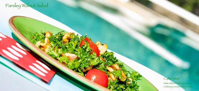 Parsley Walnut Salad