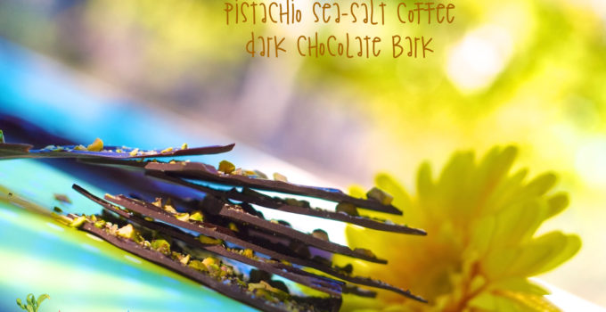 Pistachio Sea-salt Coffee Dark Chocolate Bark