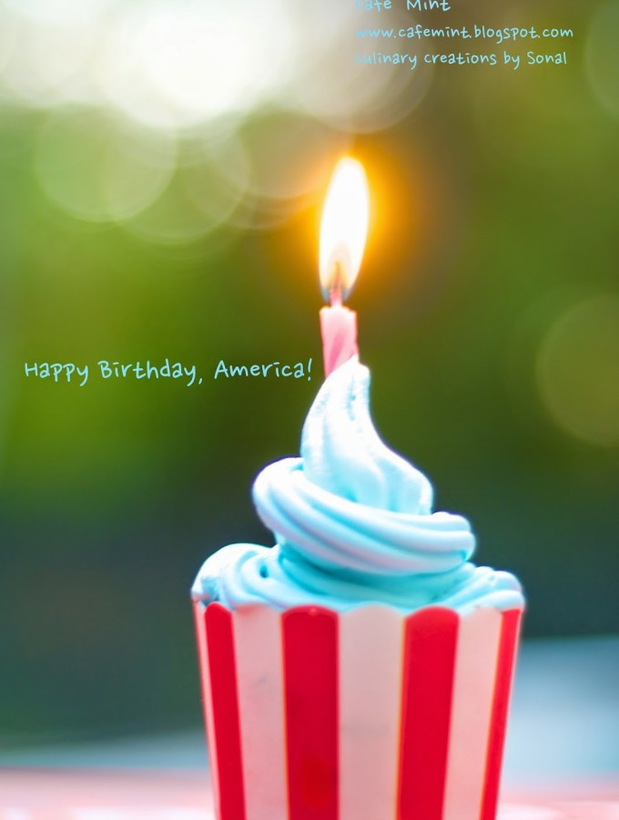 2 Minute Cupcakes I Happy Birthday, America!