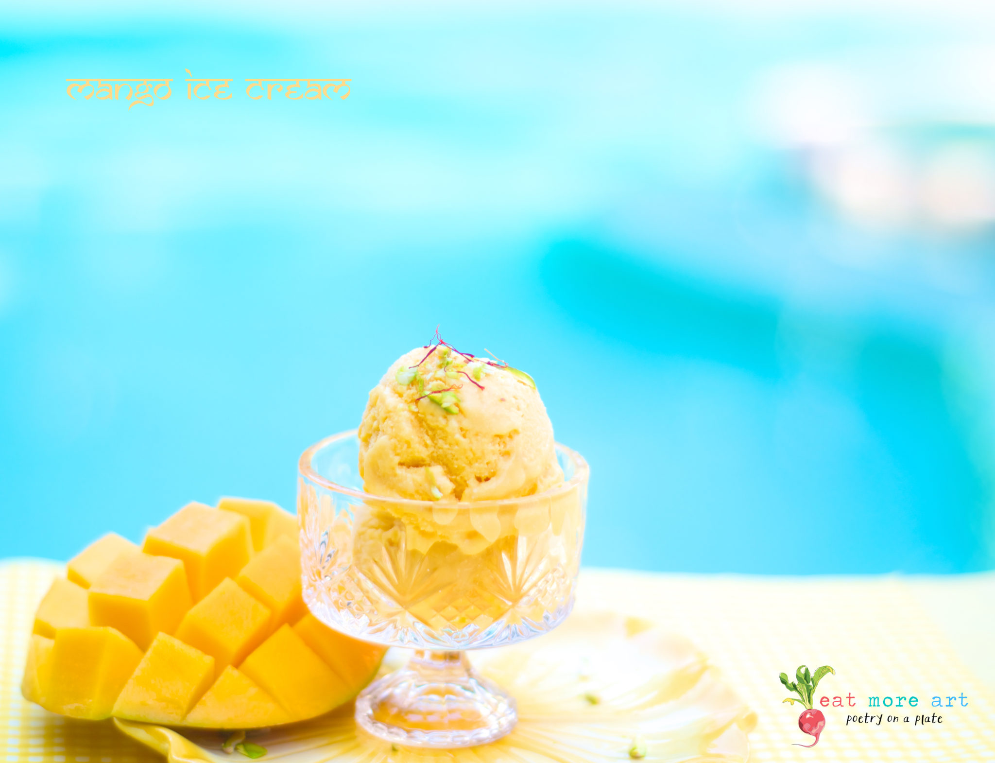 Mango Ice Cream 2 - Eat More Art - Logo