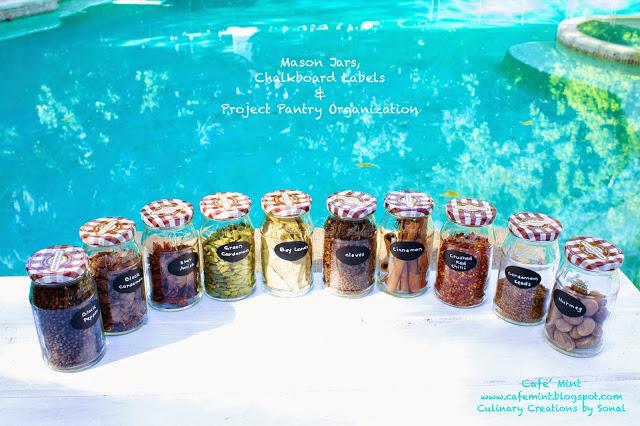 Mason Jars, Chalkboard Labels, and Project Pantry Organization