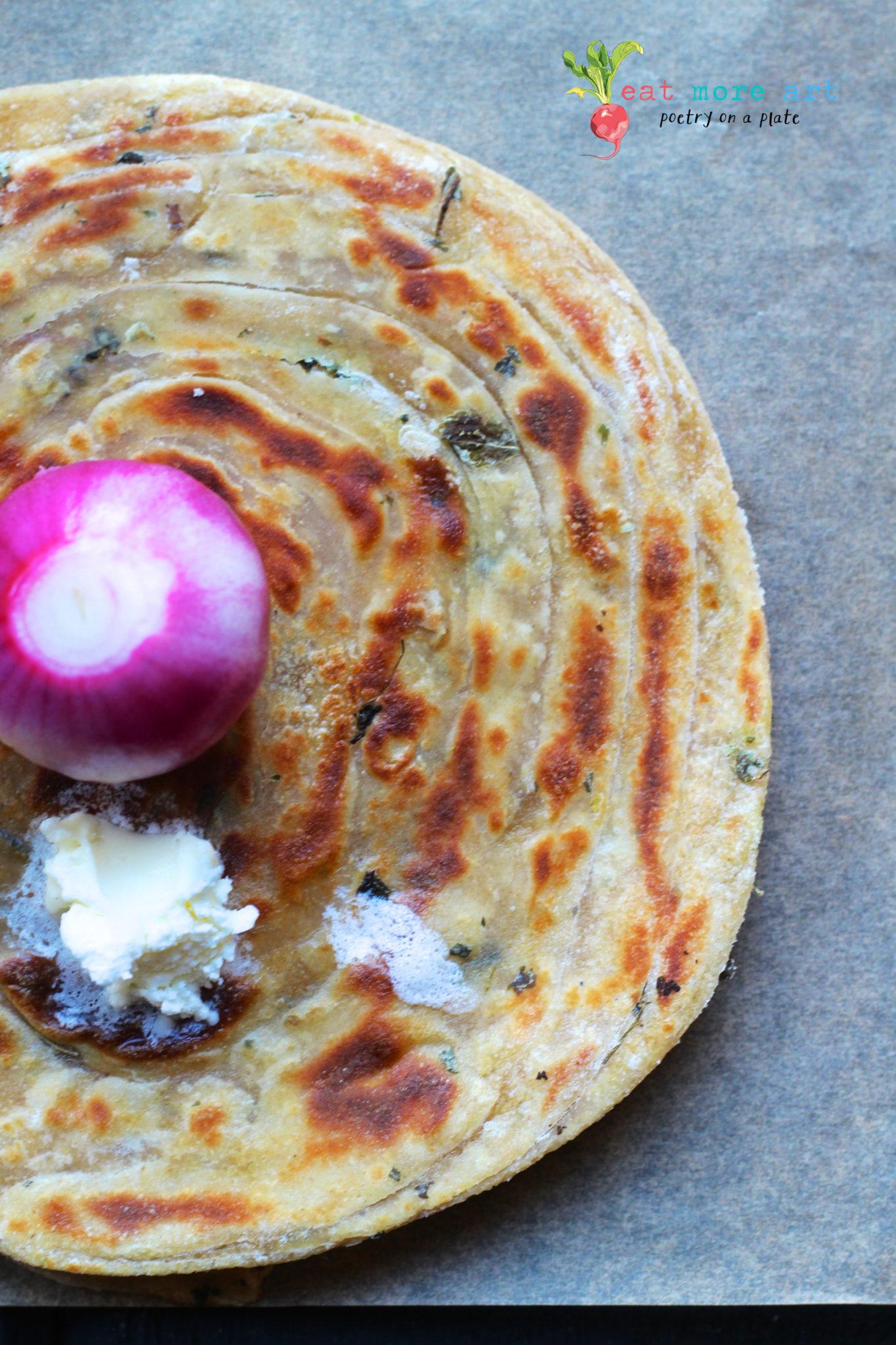 Dhaba style Saag Paneer with Punjabi Tadka