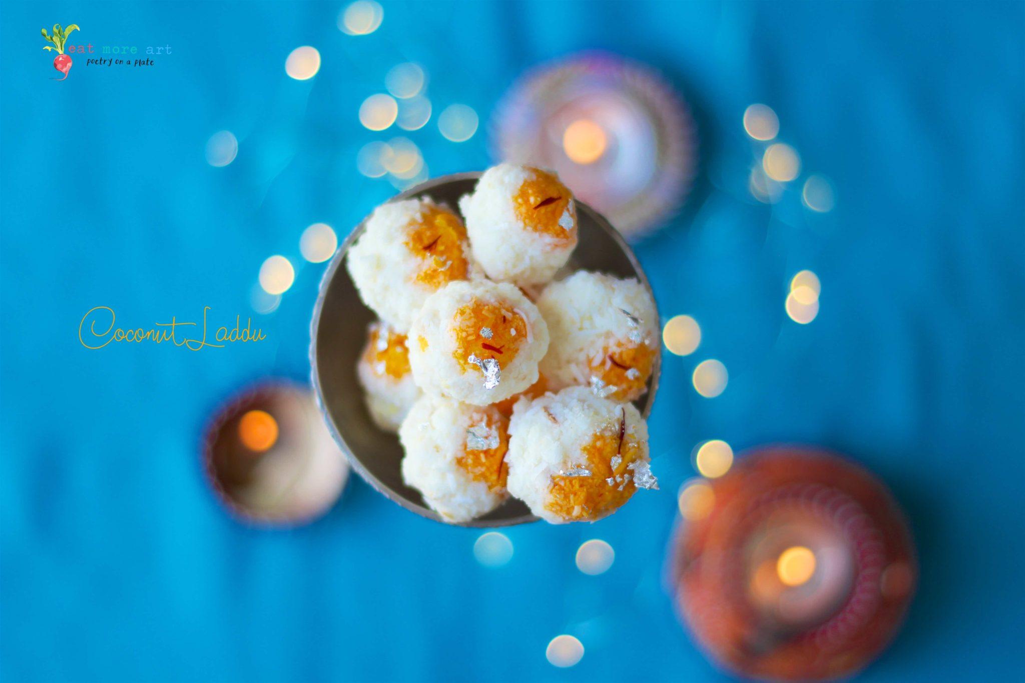 Coconut Laddu | Nariyal Laddu
