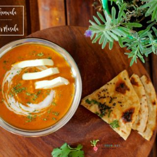 paneer butter masala served with tandoori roti