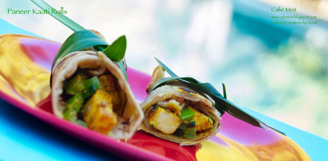 Paneer Kaati Rolls | Eat More Art