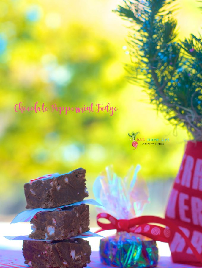 chocolate peppermint fudge   home made edible gifts