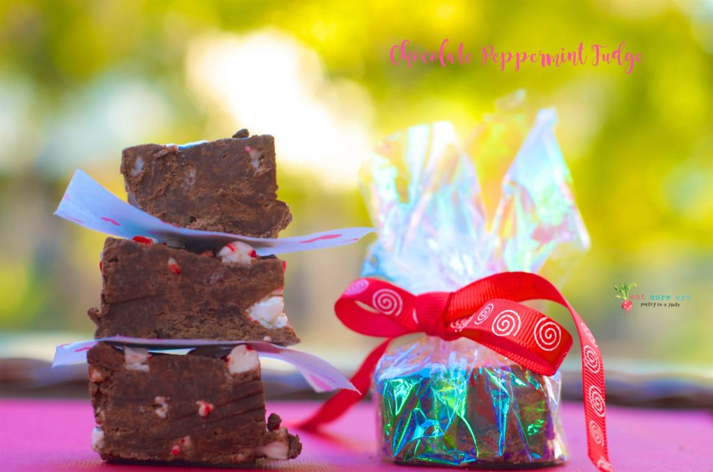 chocolate peppermint fudge | home made edible gifts