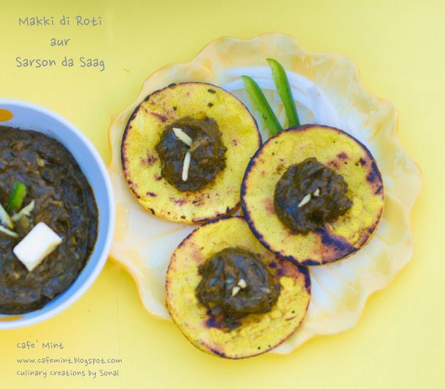 Makki di Roti aur Sarson da Saag Bites | Eat More Art
