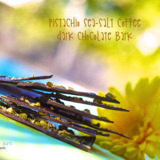 Pistachio Sea-salt Coffee Dark Chocolate Bark