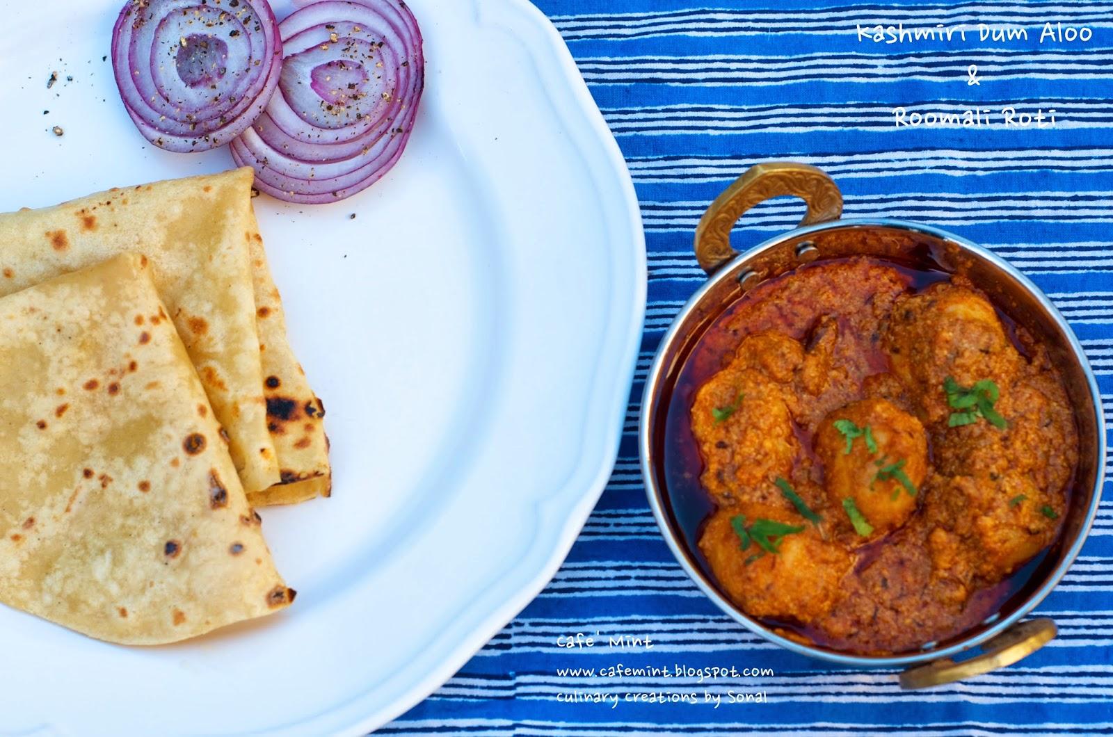 Kashmiri Dum Aloo & Roomali Roti | Eat More Art