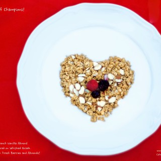 French Vanilla Almond Granola Berries Parfait – Breakfast of Champions!