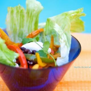 Fajita Salad Wrapped In Lettuce
