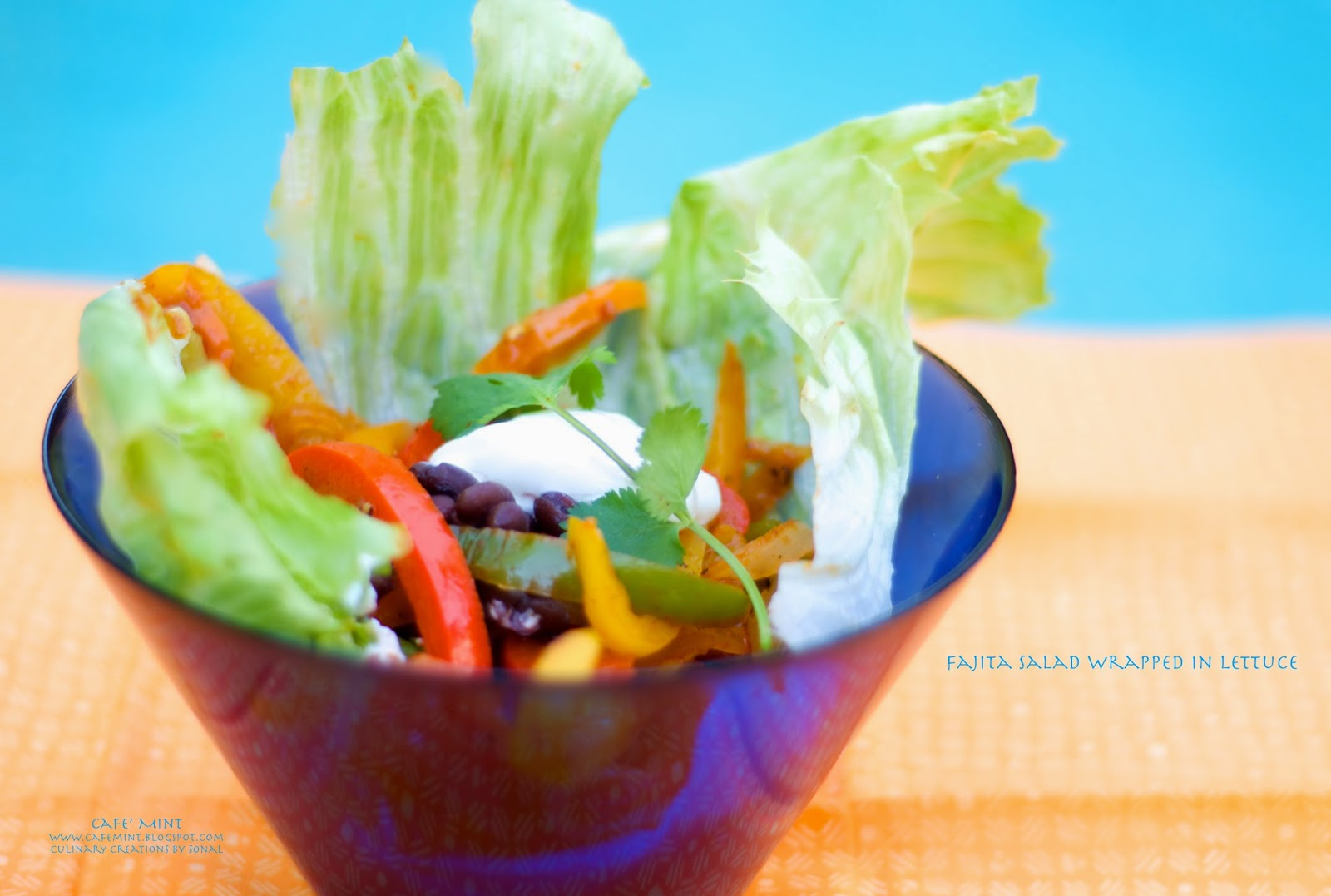Fajita Salad Wrapped In Lettuce | Eat More Art