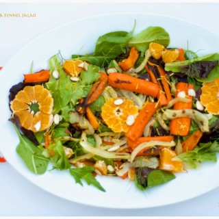 Roasted Carrots & Fennel Salad