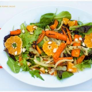Roasted Carrots & Fennel Salad