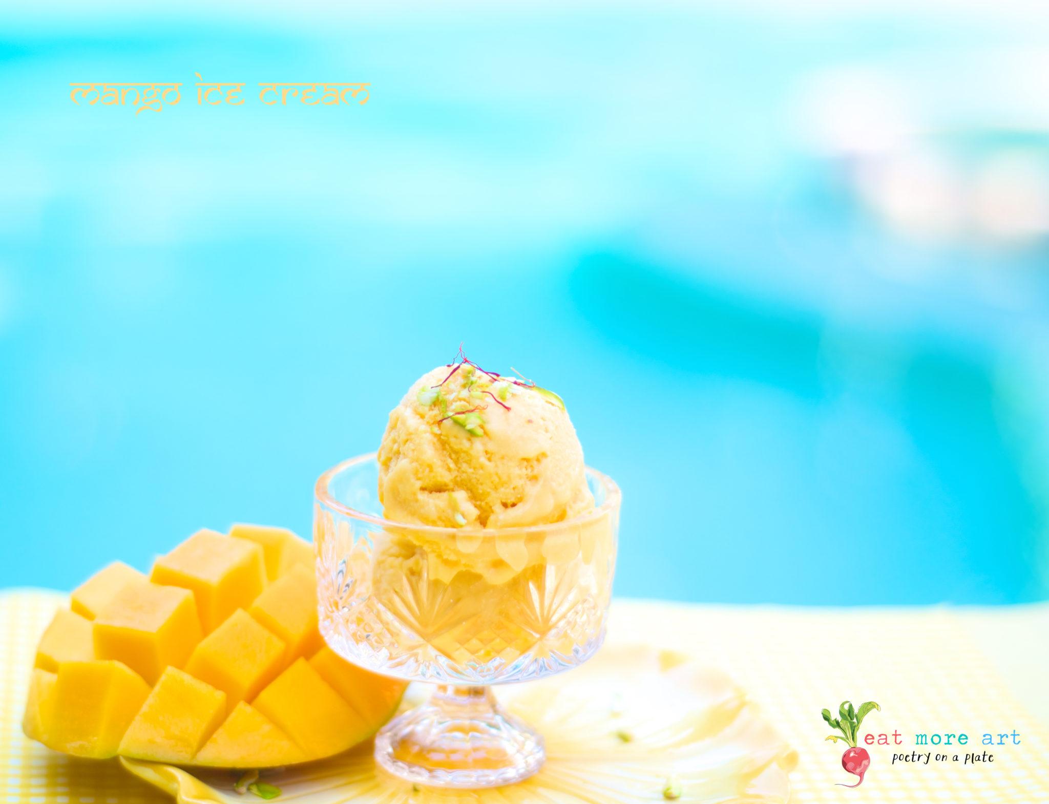 Mango Ice Cream 2 - Eat More Art - Logo