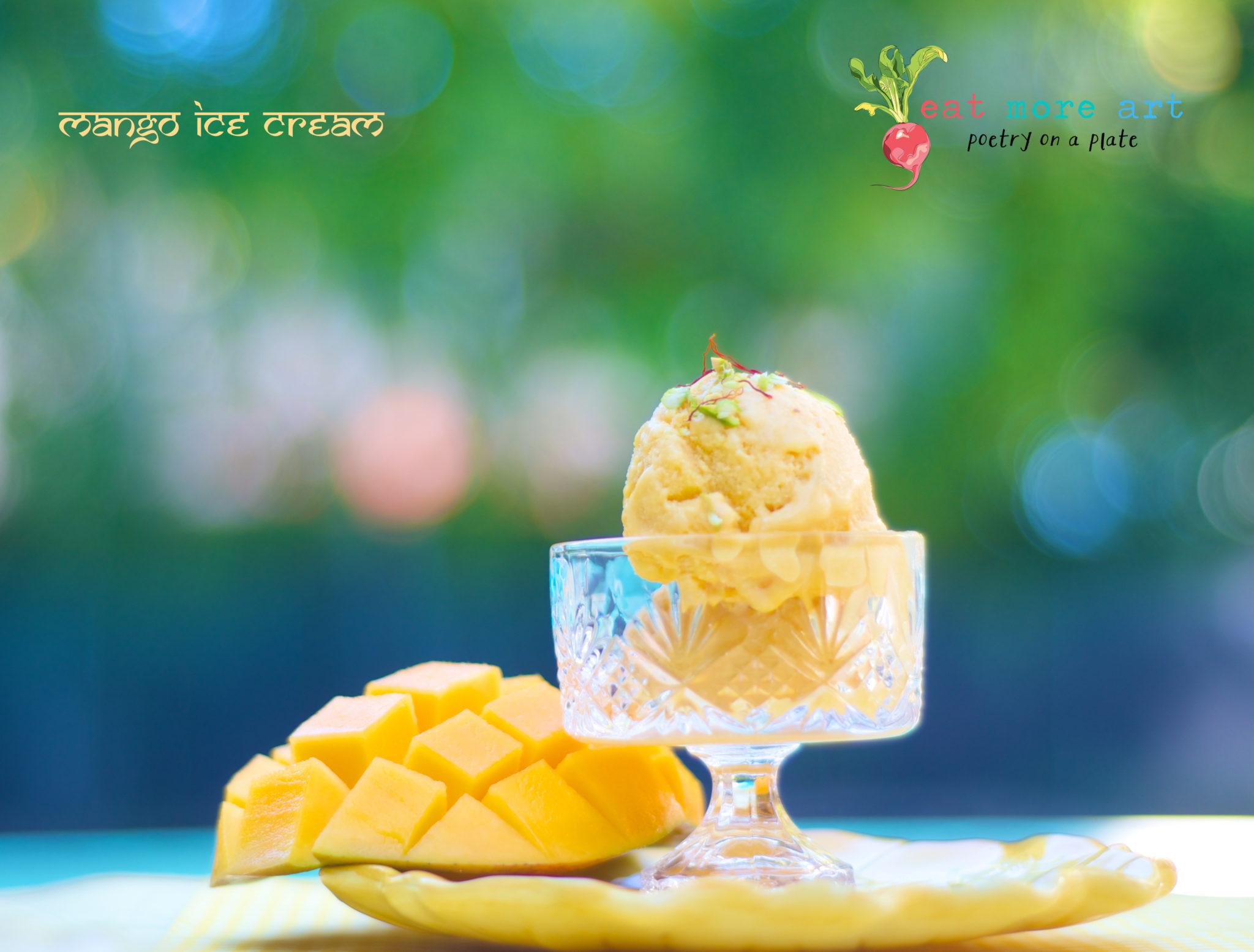 Mango Ice Cream 3 - Eat More Art - Logo