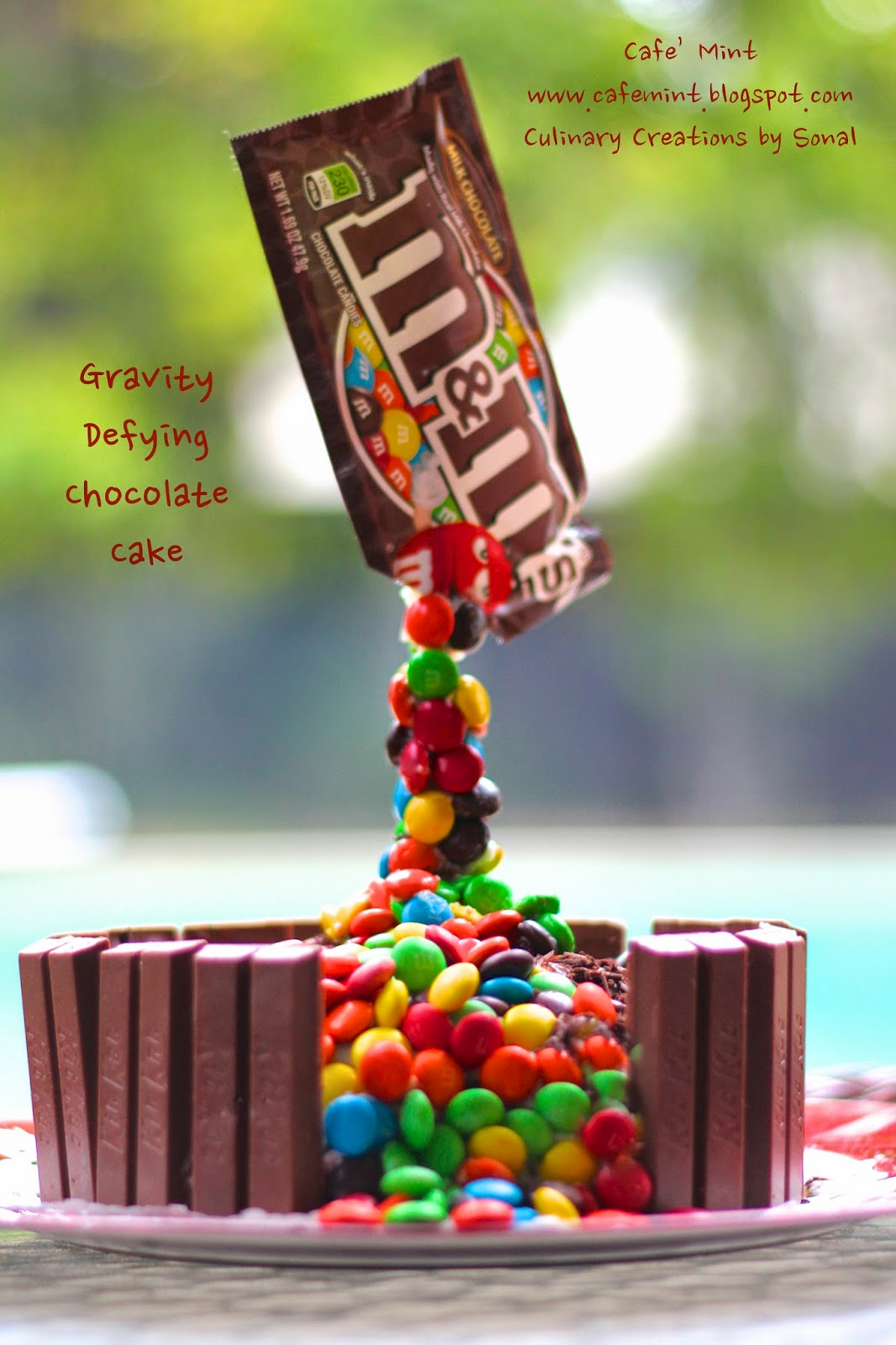 Gravity Defying Chocolate Cake (Eggless)   Eat More Art