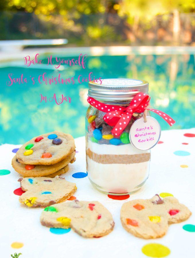 Santa's Bake It Yourself Cookies In a Jar - blog Cookies In A Jar