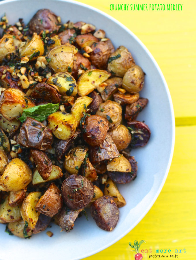 Crunchy Summer Potato Medley | Roasted Potatoes with Hazelnuts & Herbs