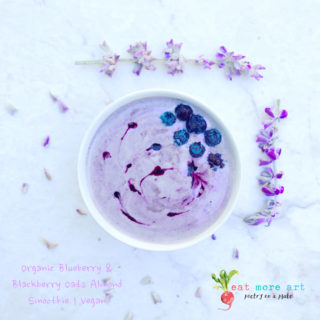 Organic Blueberry & Blackberry, Oats and Almond Smoothie | Vegan