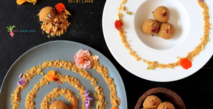 Deconstructed Besan Laddu