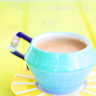 a cup of Indian masala chai | chai tea latte