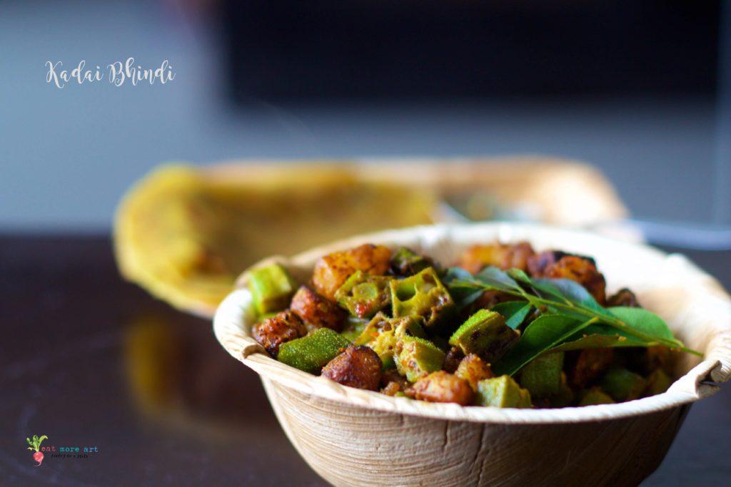 kadai bhindi | okra stir fry
