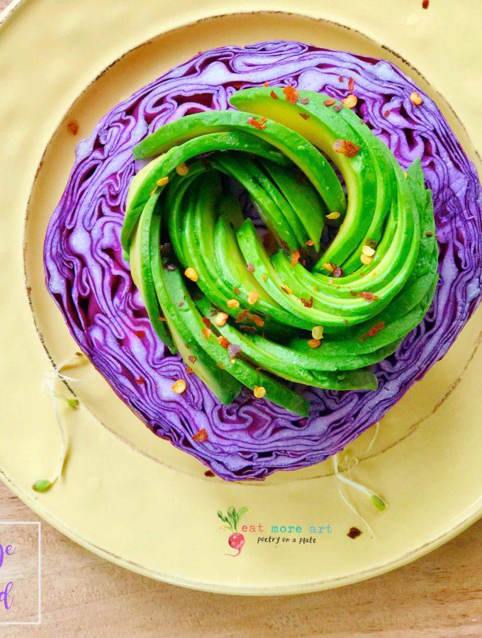 Purple cabbage & Avocado Salad