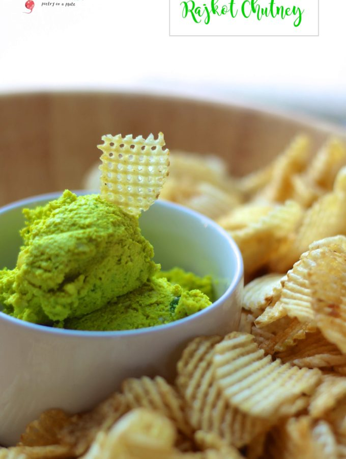 Rajkot's famous green chutney