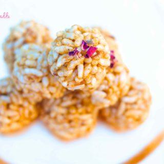 Murmura laddu or Puffed Rice Balls