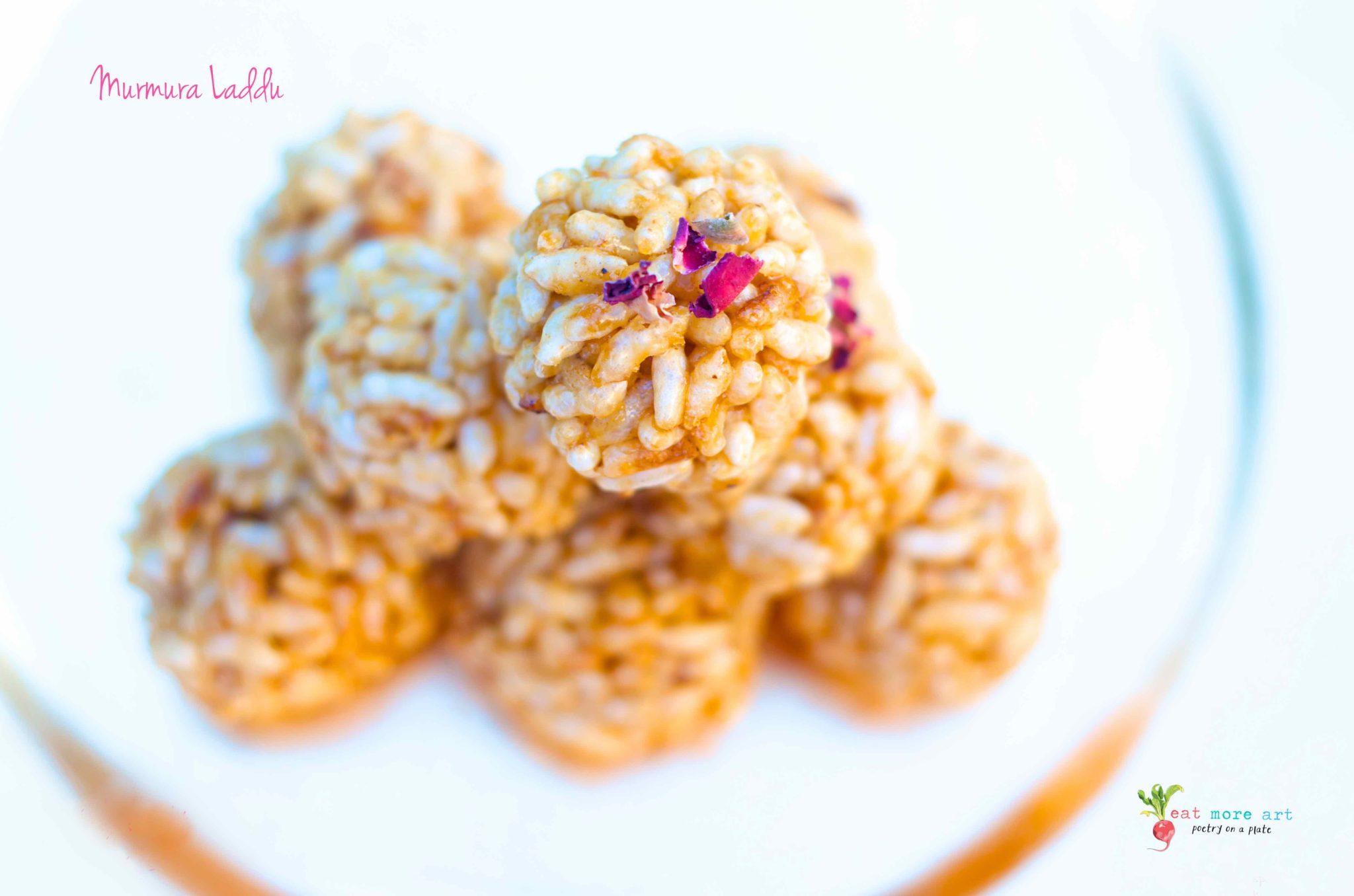 Murmura Laddu   Puffed Rice Balls   Eat More Art
