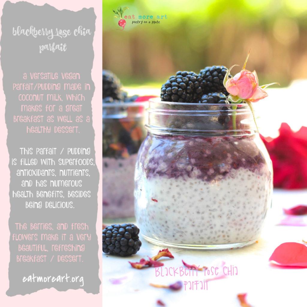 Blackberry Rose Chia Parfait | Pudding