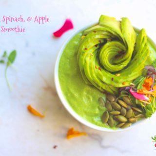 Avocado, Spinach, & Apple Smoothie Bowl