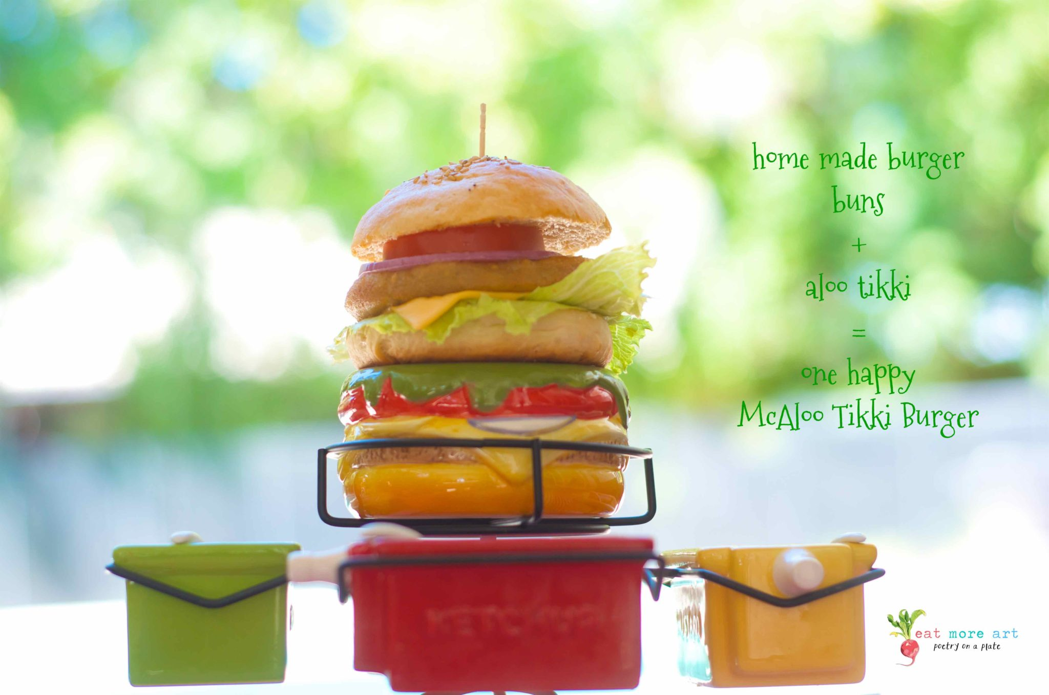 McAloo Tikki Burger | Veggie Burger | Eat More Art