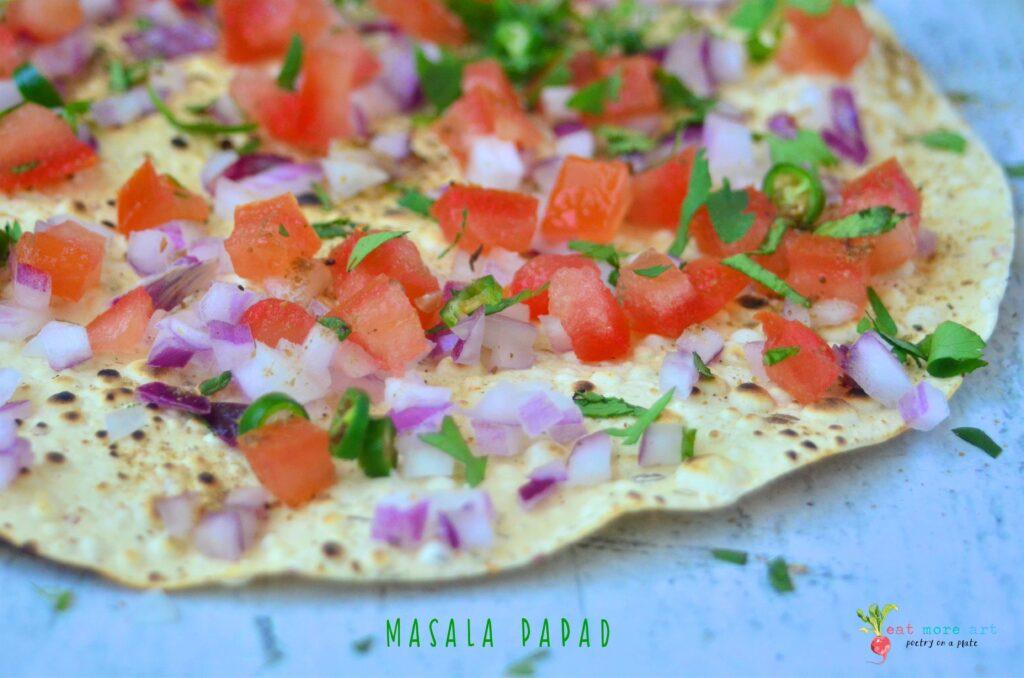 A close up shot of Masala Papad