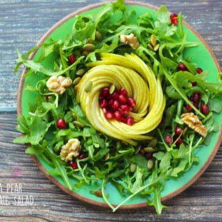 Arugula Pear Pomegranate Salad