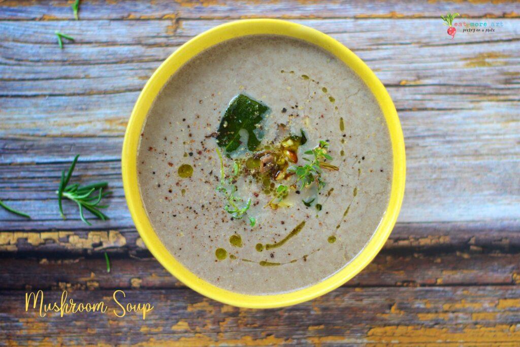 Mushroom Soup | Vegan