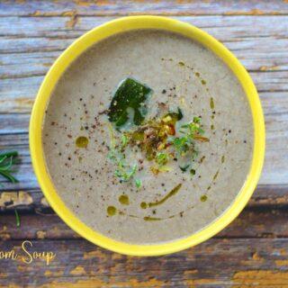 Mushroom Soup   Vegan