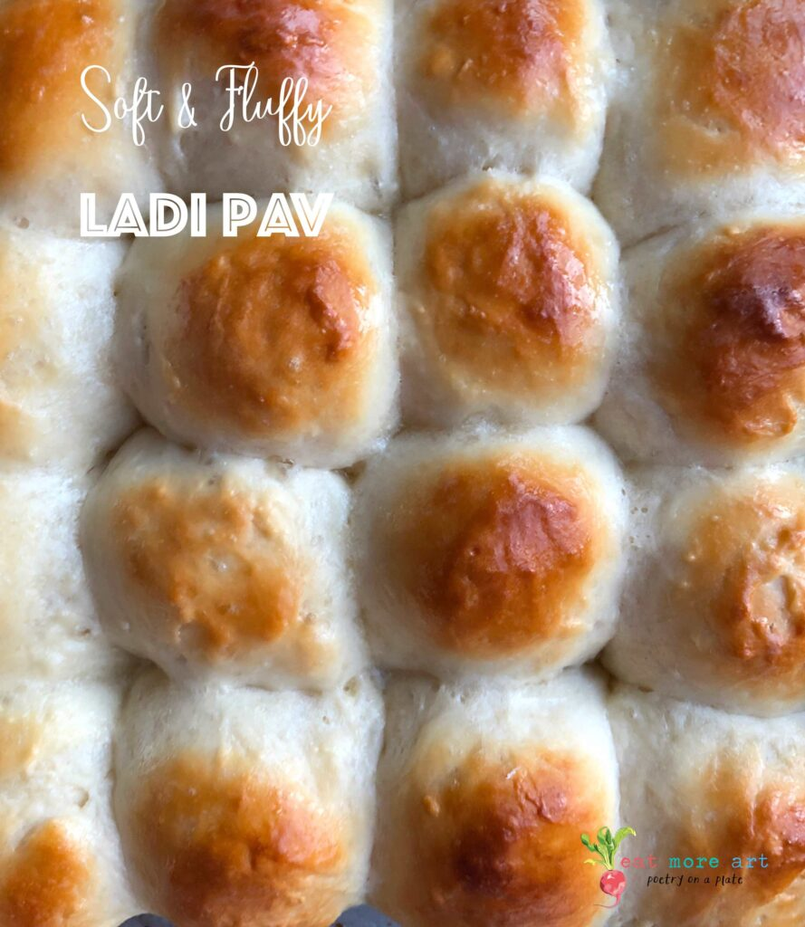 A top shot of a slab of Ladi Pav
