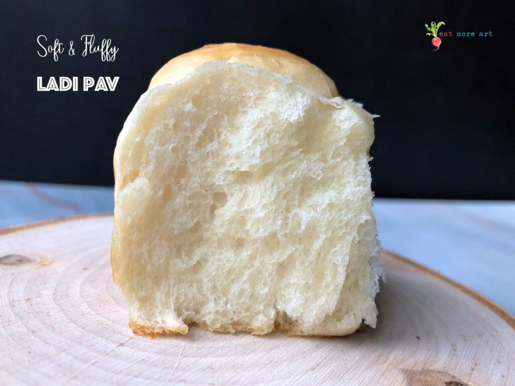 A close-up side shot of Pav