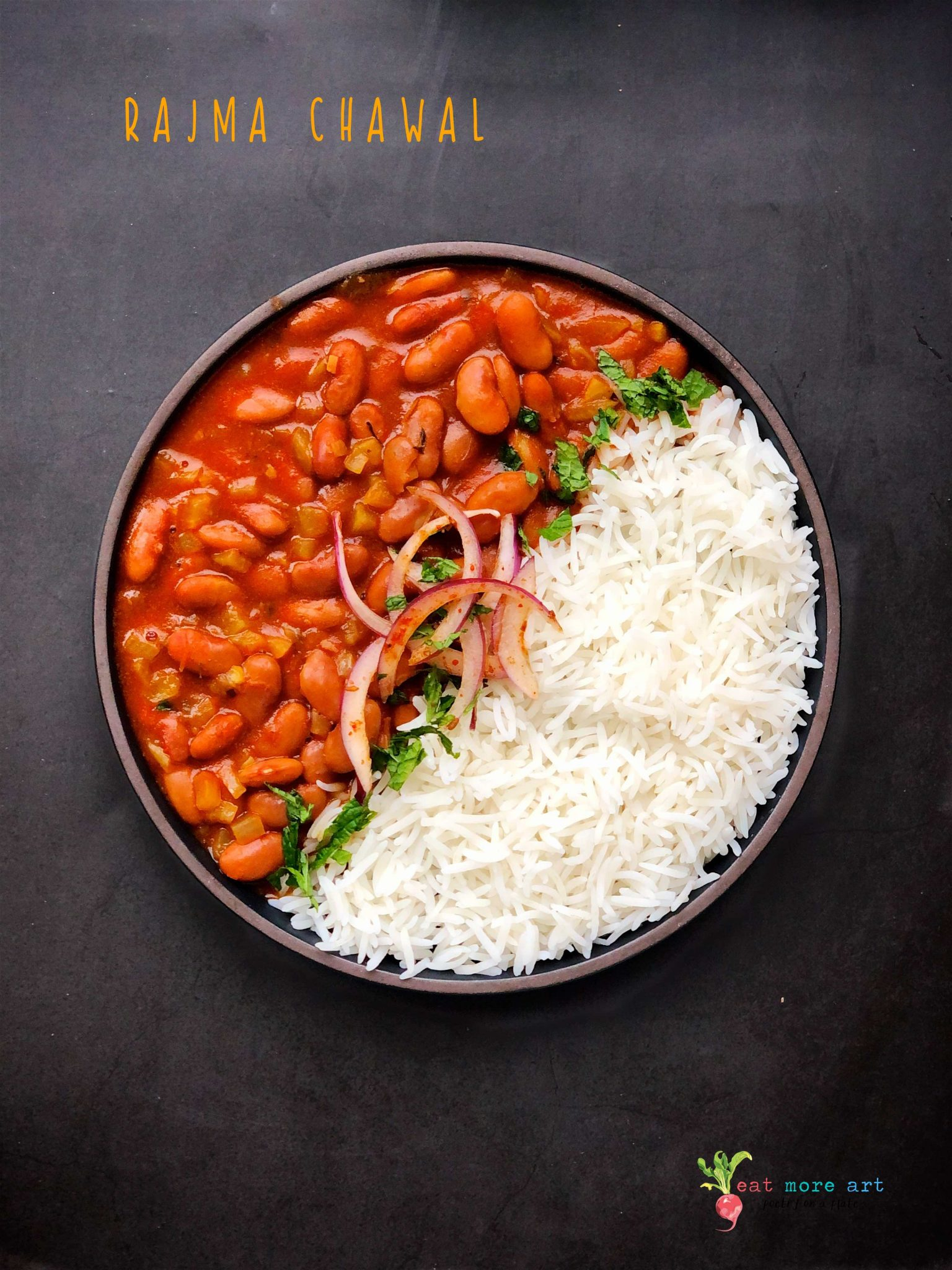 Rajma Chawal Curried Kidney Beans Rice Eat More Art